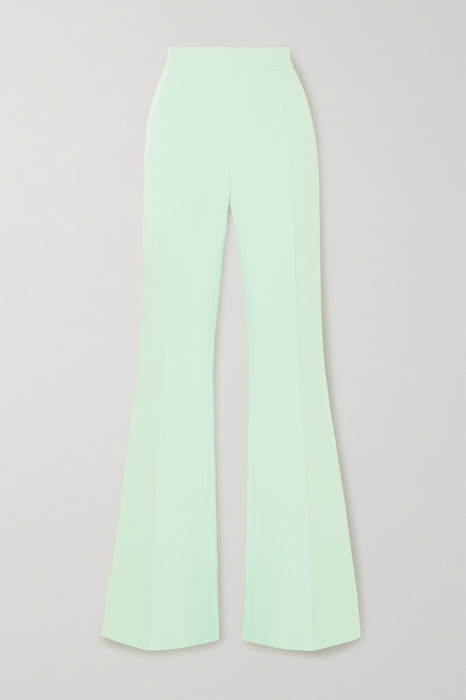 Safiyaa Halluana stretch-crepe flared pants