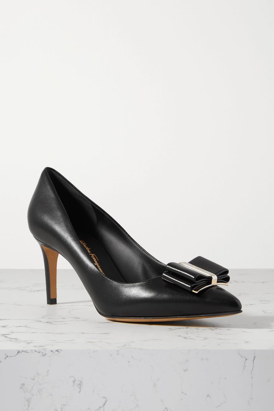 Salvatore Ferragamo Zeri bow-embellished leather pumps