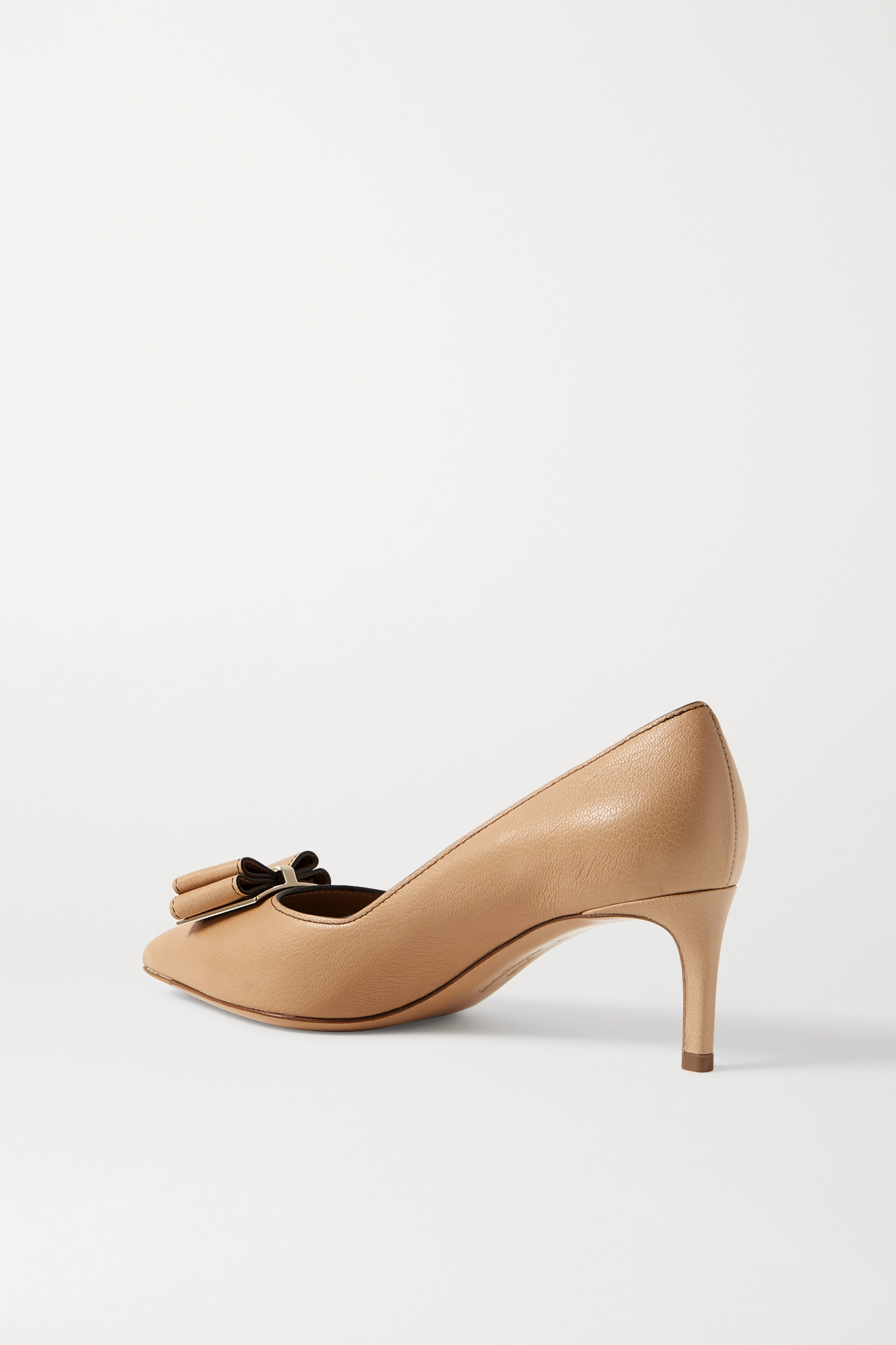 Salvatore Ferragamo Zaia bow-embellished textured-leather pumps