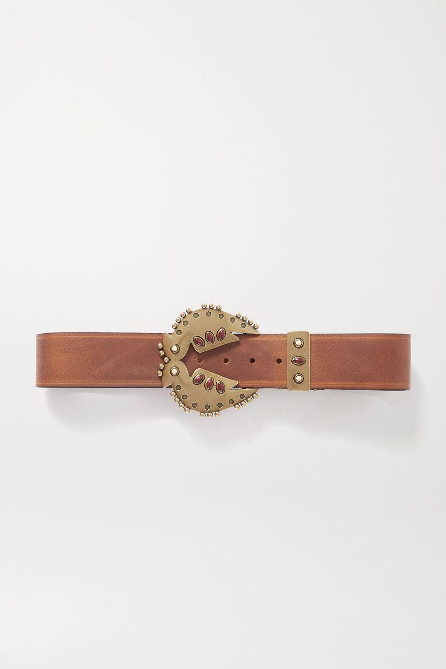 Isabel Marant Abigail embellished leather belt