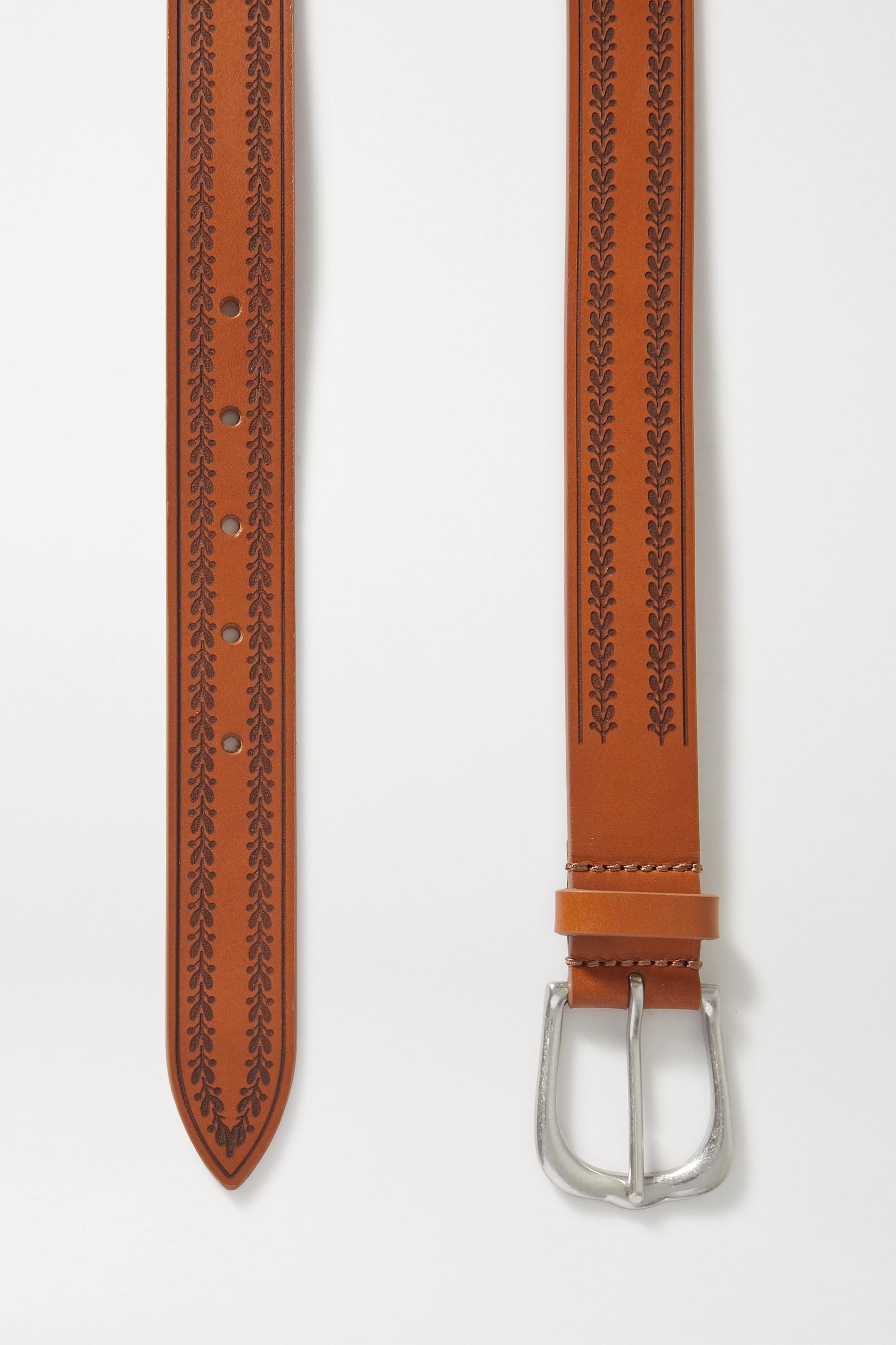 Isabel Marant Linna embossed leather belt