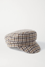 Isabel Marant Evie houndstooth wool-tweed cap