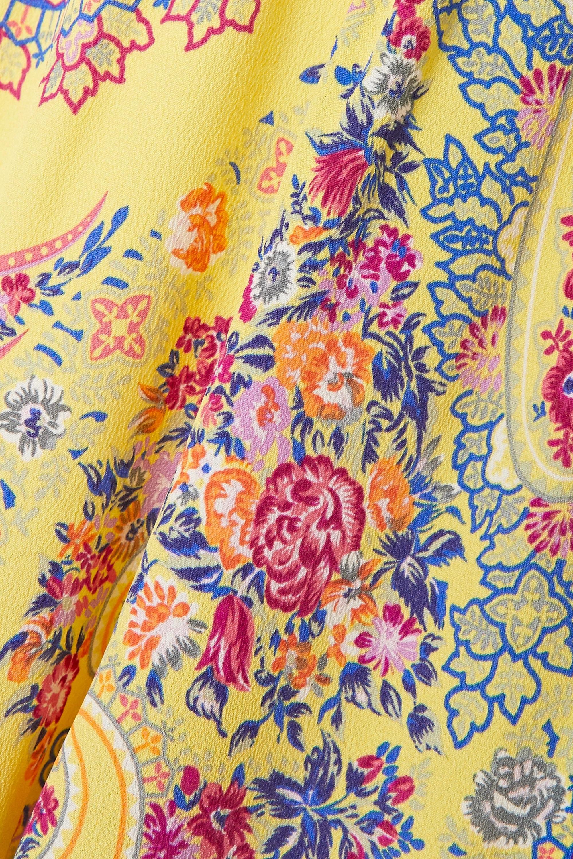 Yellow Karabair Cropped Printed Georgette Wide-leg Pants | Etro