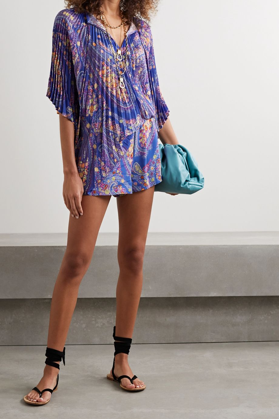 Etro Burguete printed georgette shorts