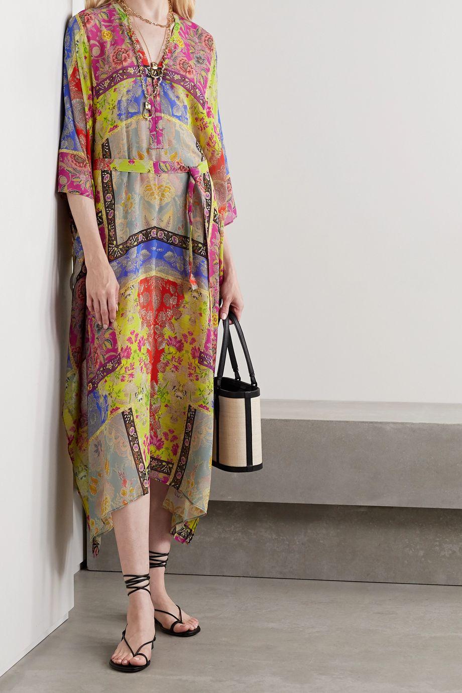 Etro Burguete printed silk-georgette kaftan