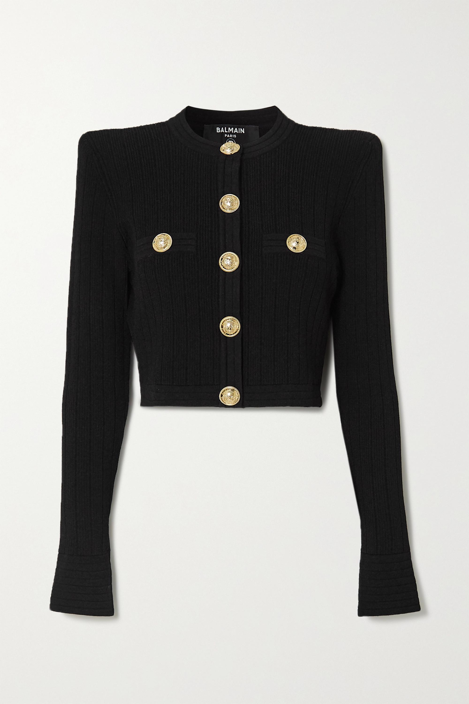 Balmain 纽扣缀饰提花针织短款西装外套