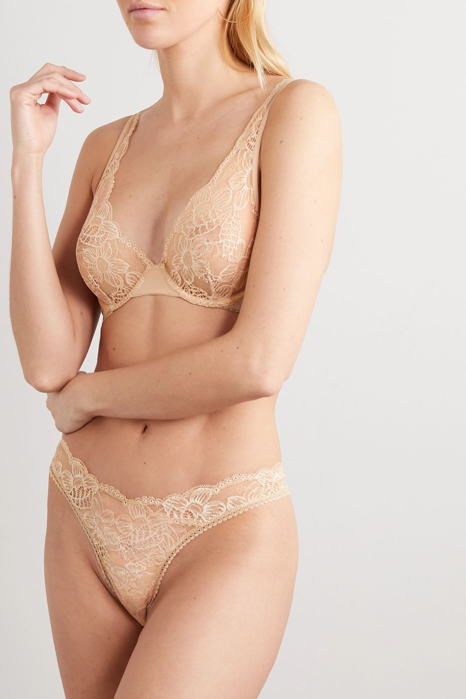 La Perla Layla Leavers lace and stretch-tulle briefs