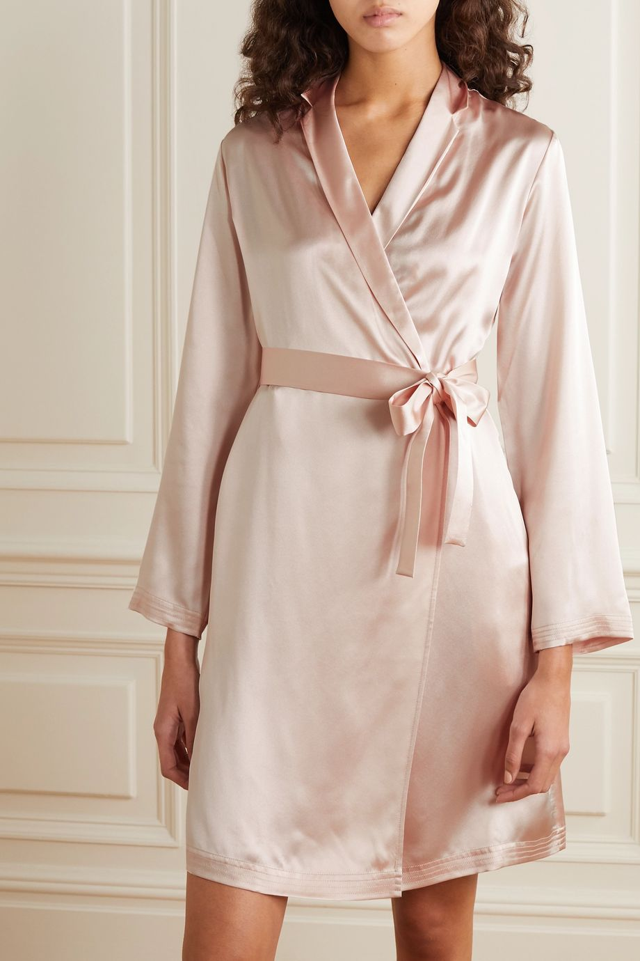 La Perla Silk-satin robe