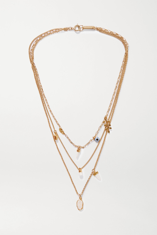 Isabel Marant Gold-tone and bone necklace