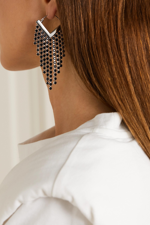 Isabel Marant Silberfarbene Ohrringe mit Kristallen