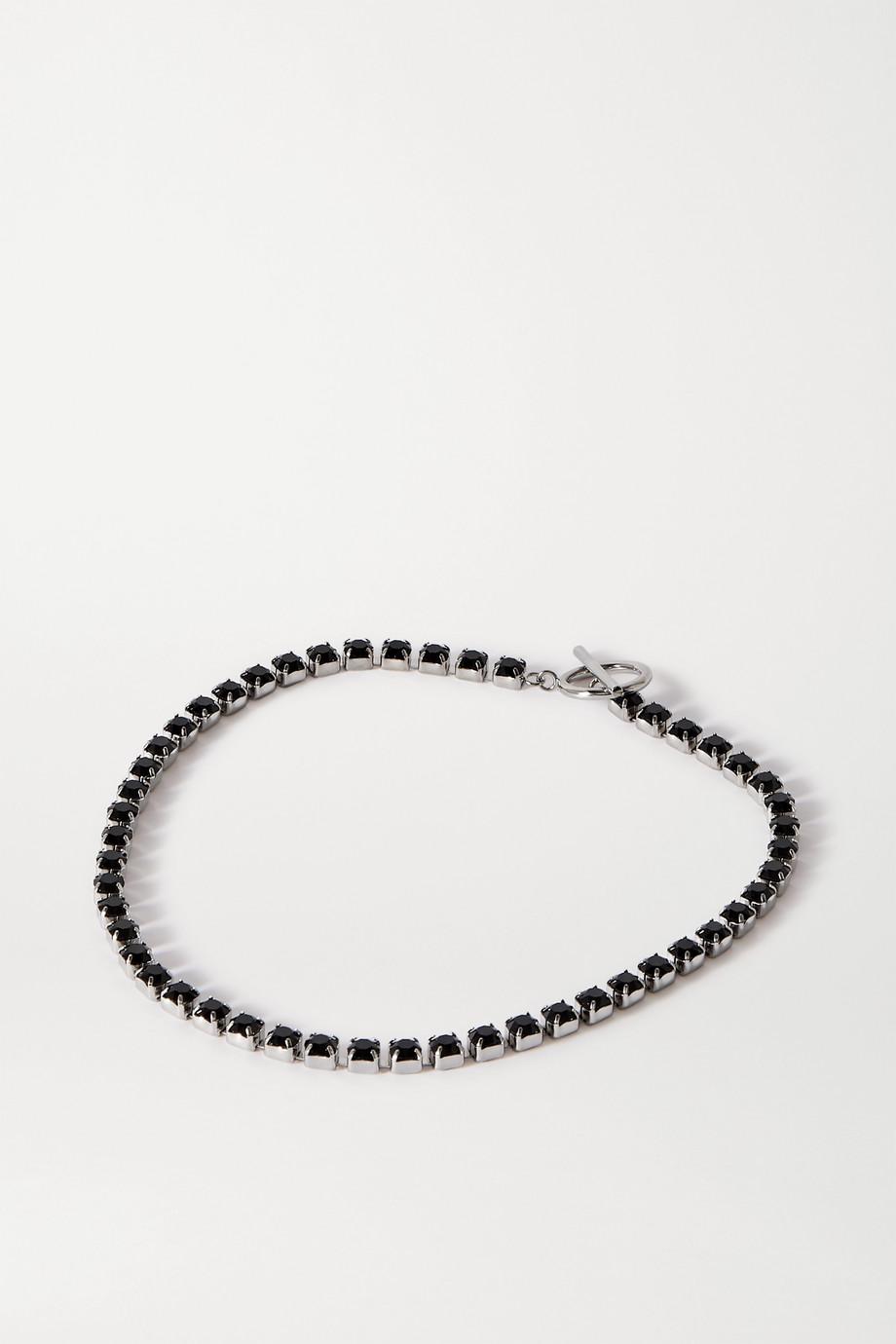 Isabel Marant Silberfarbene Kette mit Kristallen
