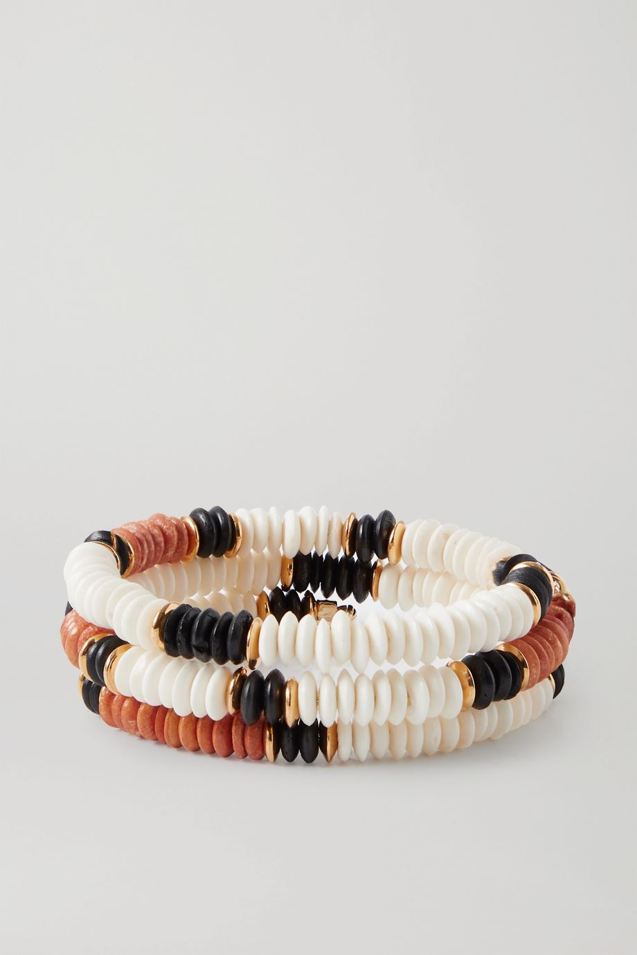 Isabel Marant Gold-tone and bone bracelet