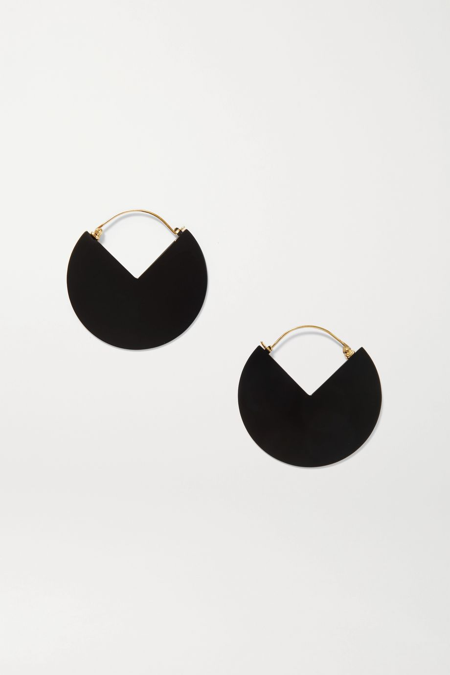 Isabel Marant Reversible gold-tone and enamel hoop earrings