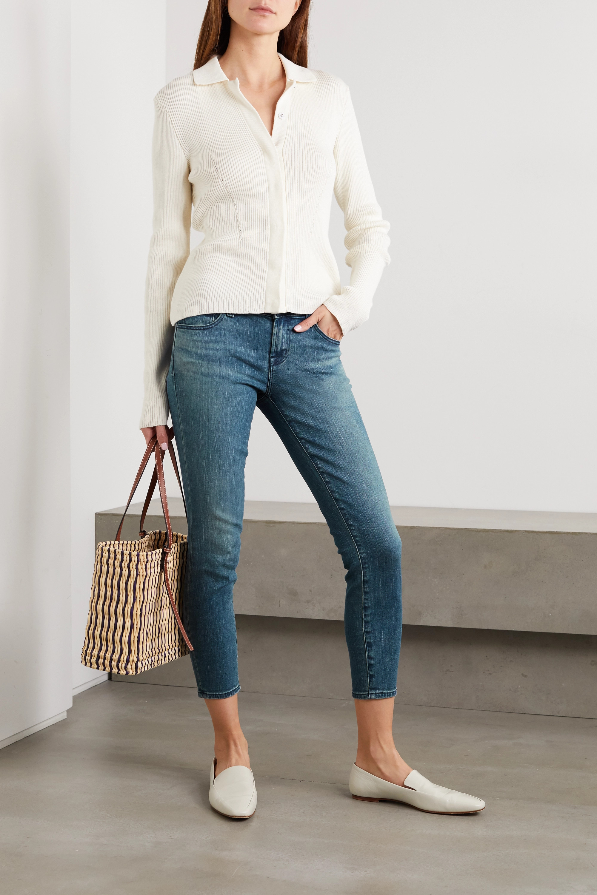 J Brand 9326 cropped low-rise skinny jeans