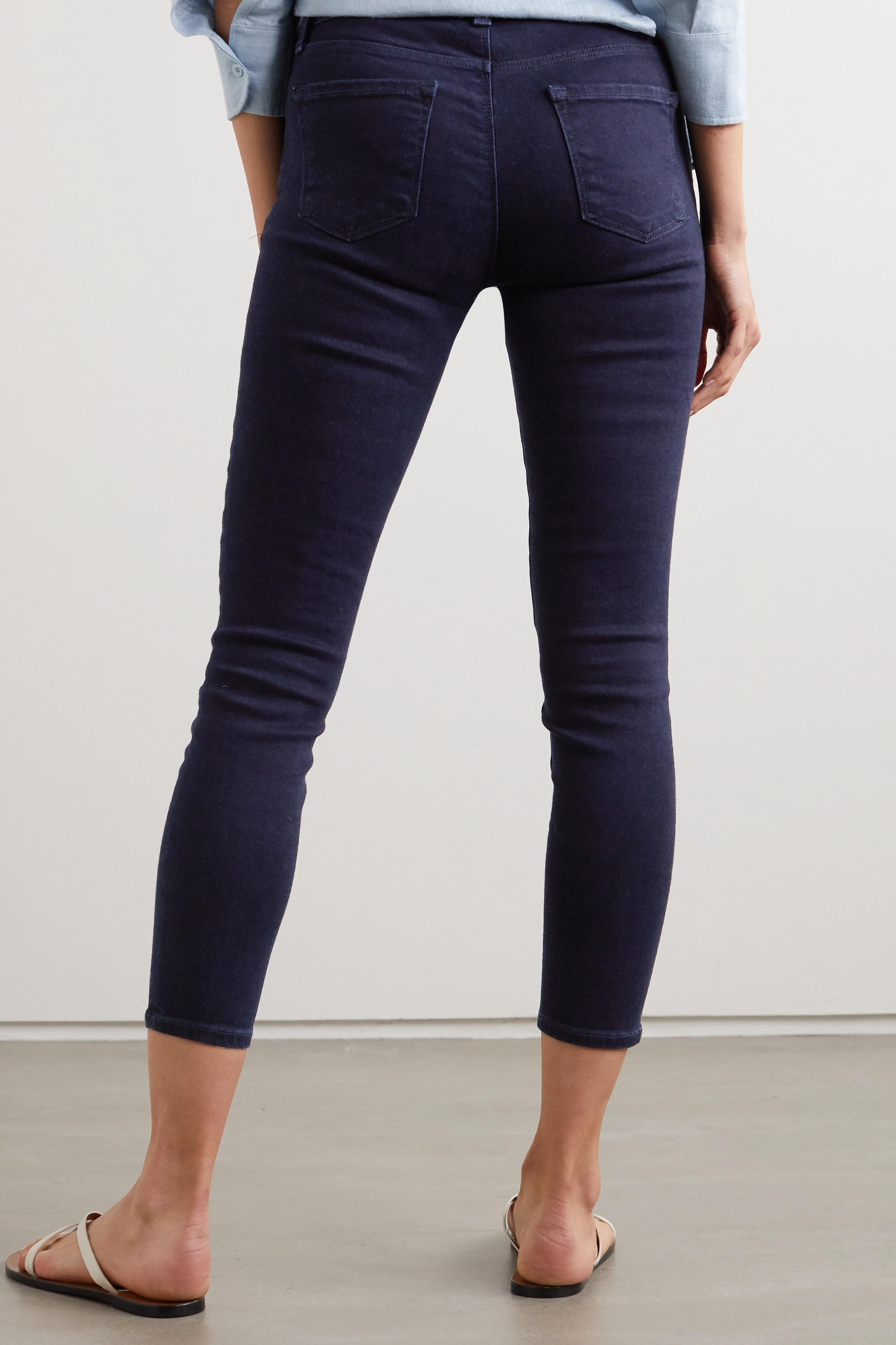 J Brand 835 cropped high-rise skinny jeans