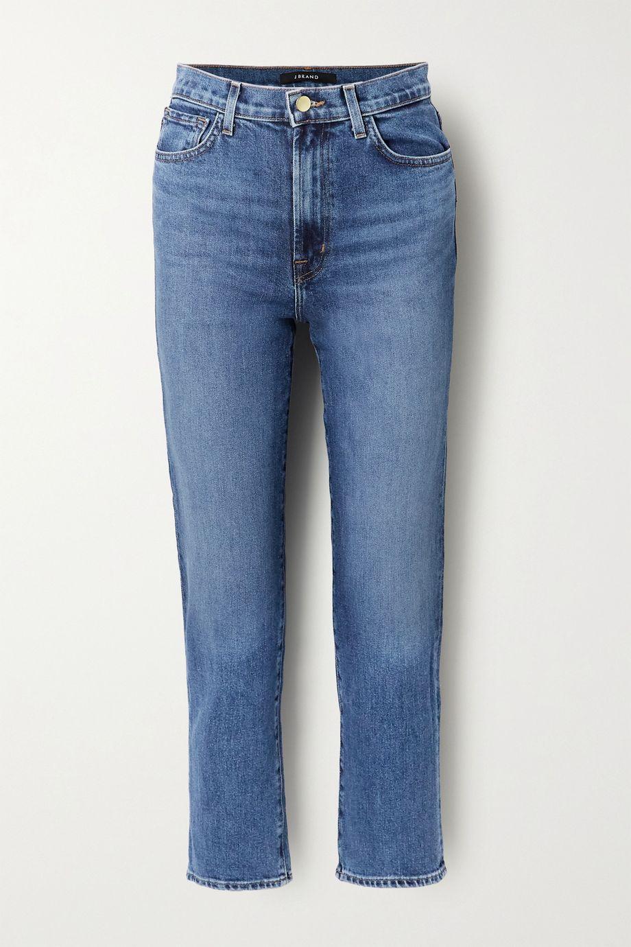 J Brand Jules high-rise straight-leg jeans