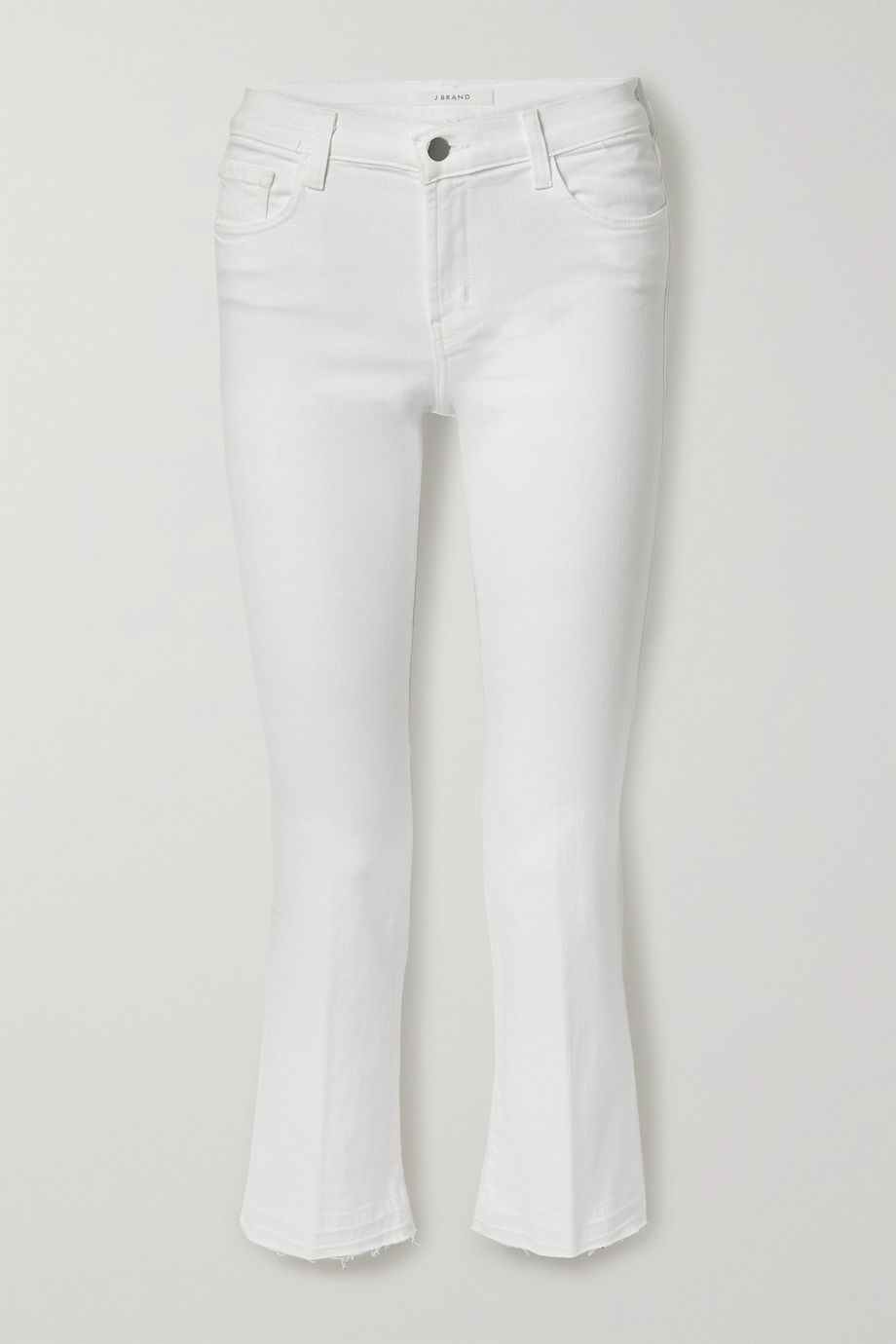 J Brand Selena frayed mid-rise bootcut jeans