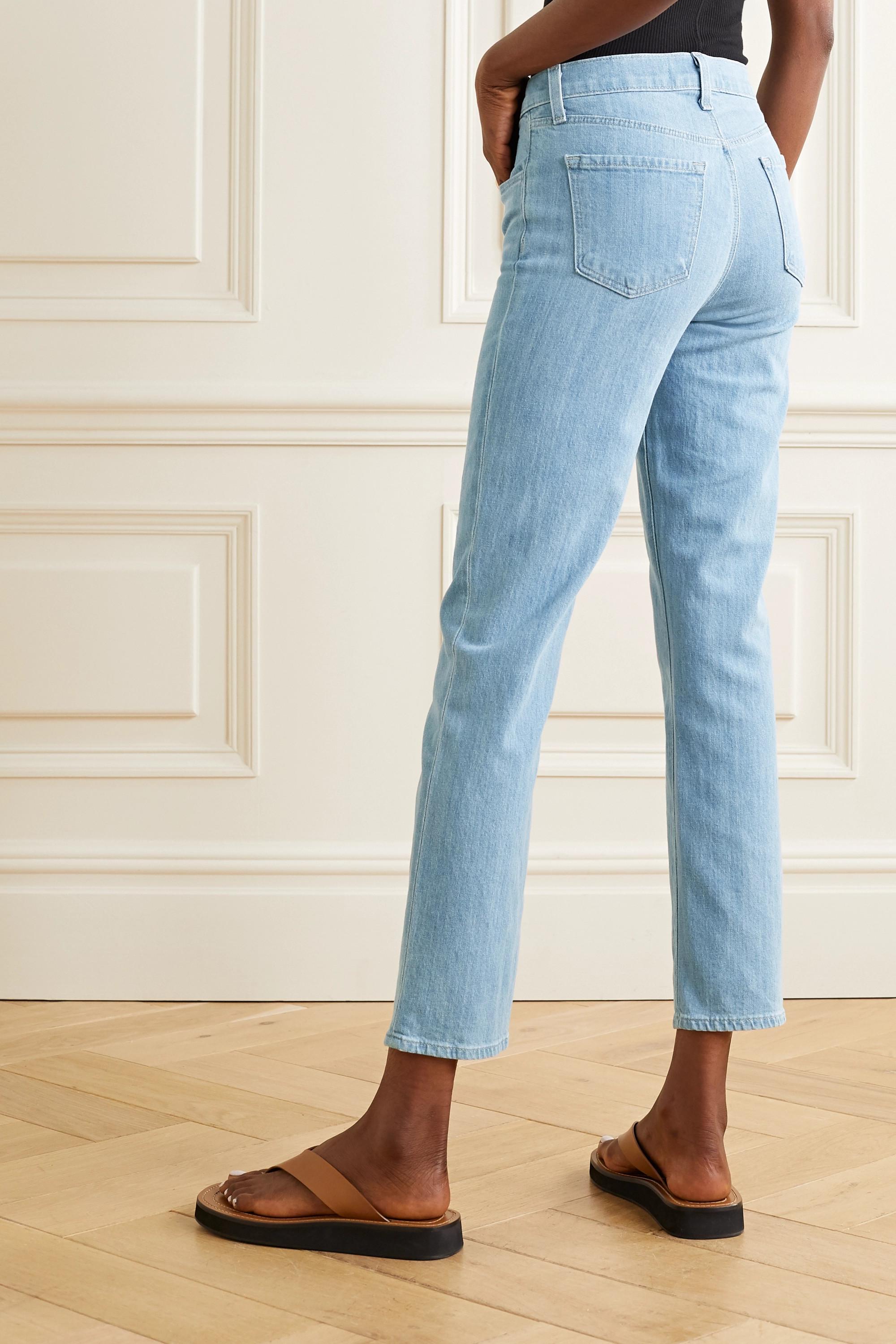 J Brand Adele hoch sitzende Jeans mit schmalem Bein