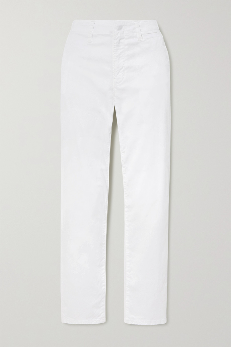J Brand Ollie stretch-cotton twill straight-leg pants