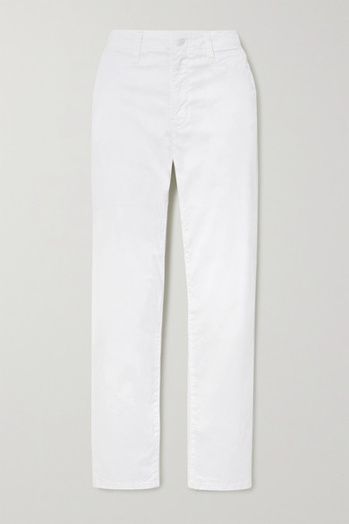 J Brand - Ollie Cotton-blend Twill Pants - White