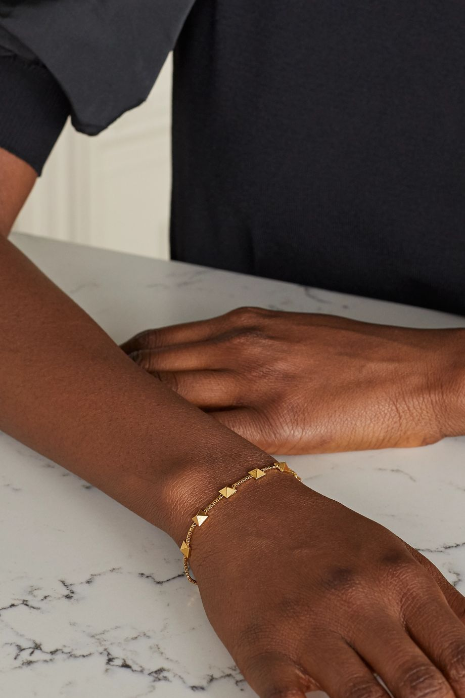 Valentino Valentino Garavani Rockstud gold-tone bracelet