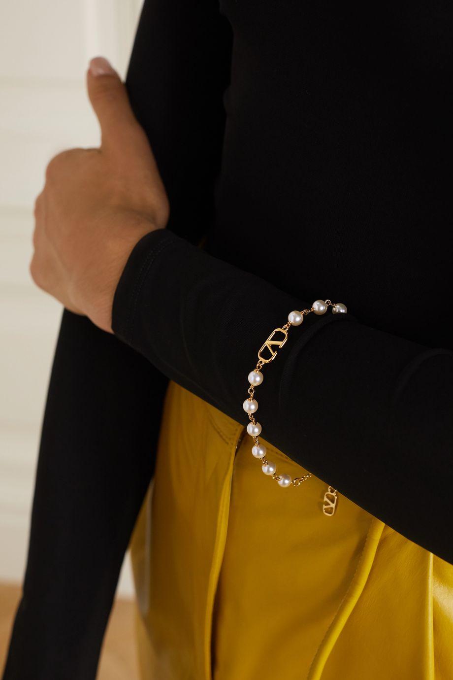 Valentino Valentino Garavani gold-tone faux pearl bracelet