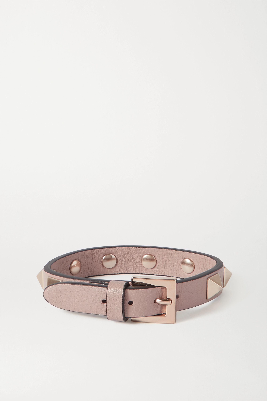 Valentino Valentino Garavani Rockstud leather bracelet