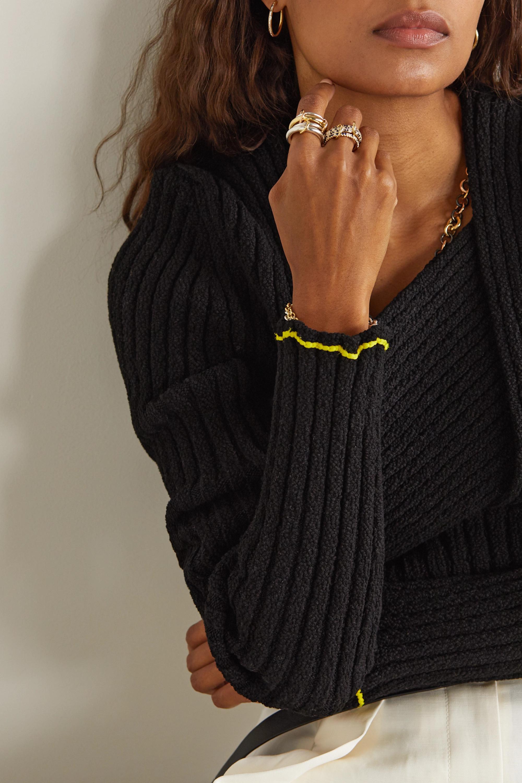 Spinelli Kilcollin Nova 18-karat gold, sapphire and diamond rings
