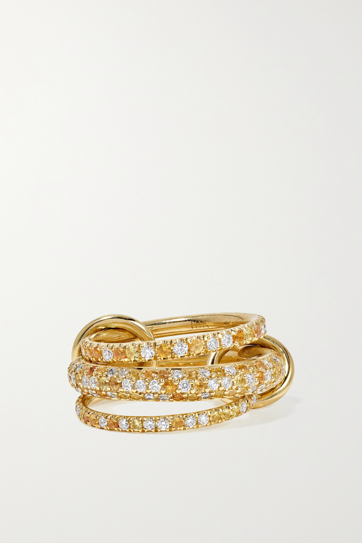 Spinelli Kilcollin 18-karat gold, sapphire and diamond rings