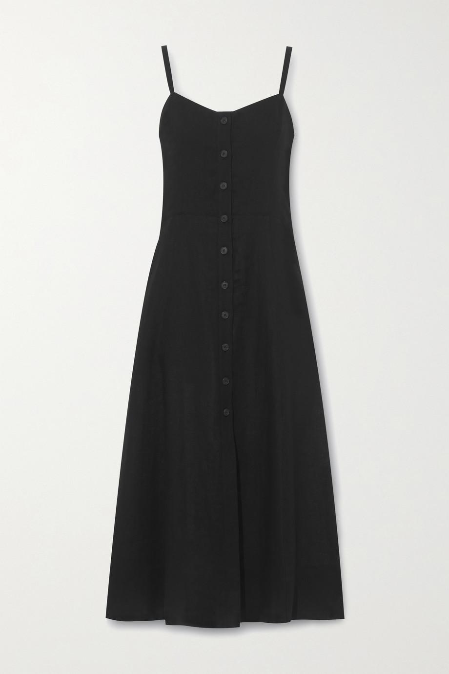 Three Graces London Bonita linen midi dress