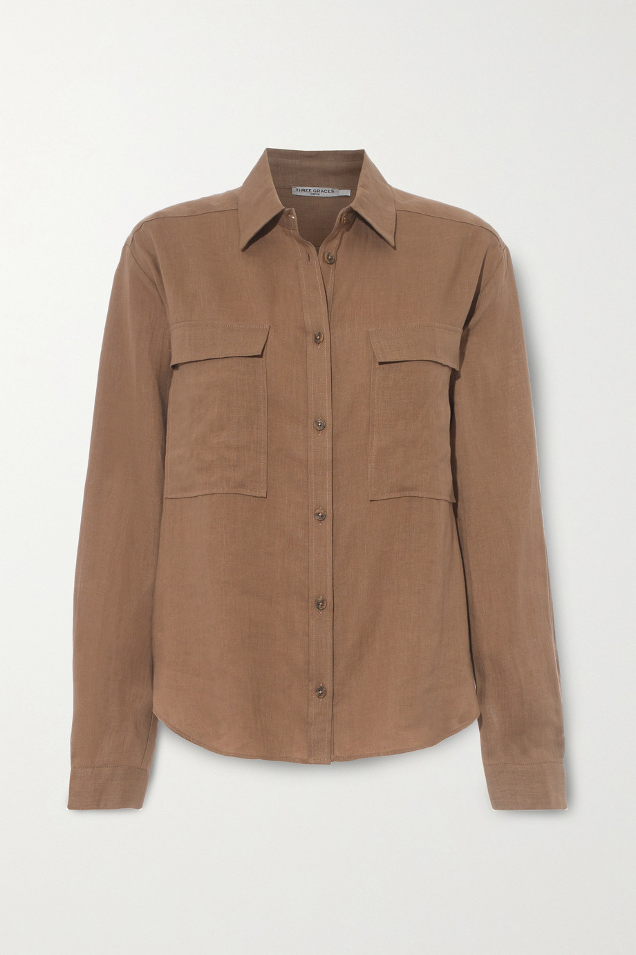 Three Graces London Willow linen shirt