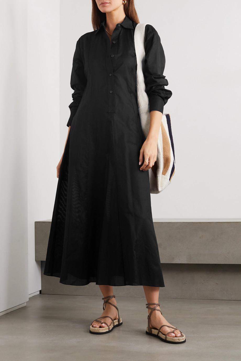 Three Graces London Fallon cotton-gauze shirt dress