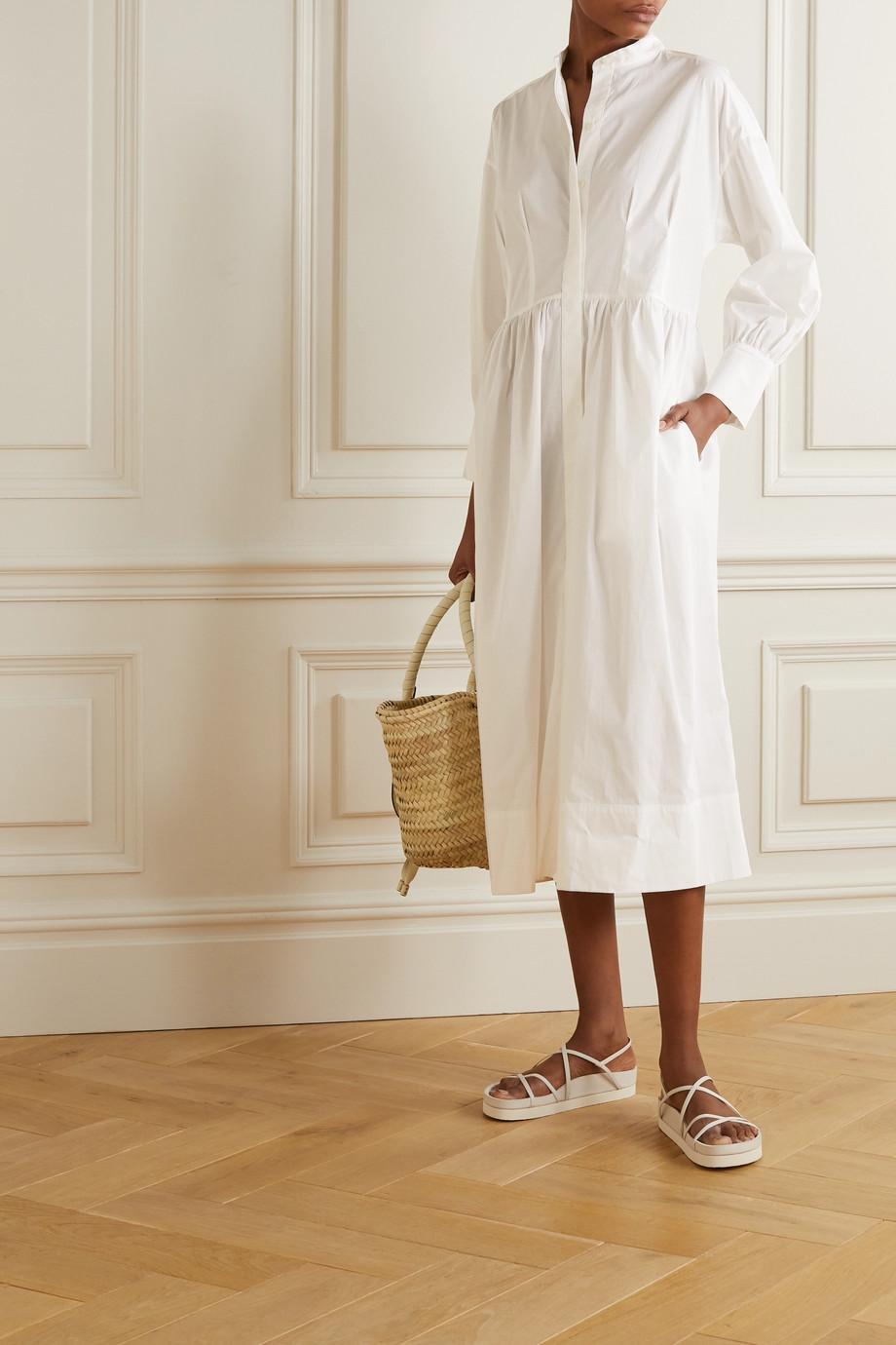 Three Graces London Peppa Midi-Hemdblusenkleid aus Baumwollpopeline