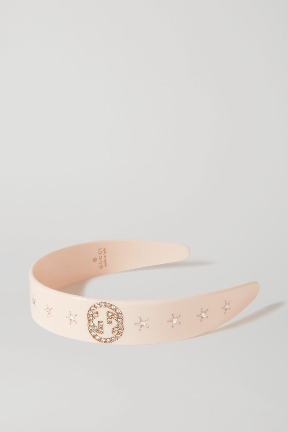 Gucci Crystal-embellished resin headband