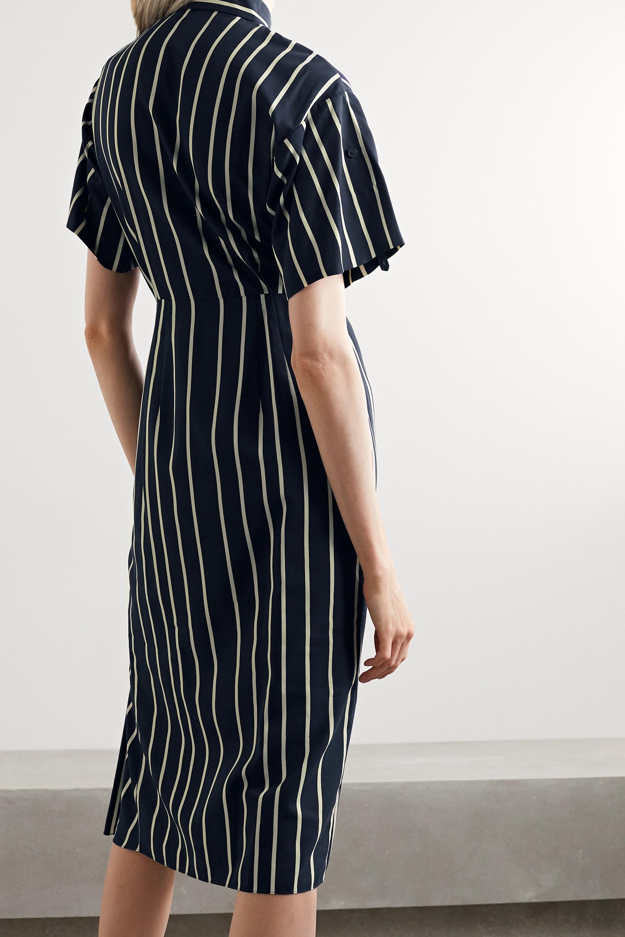 Jason Wu Collection Draped striped twill dress
