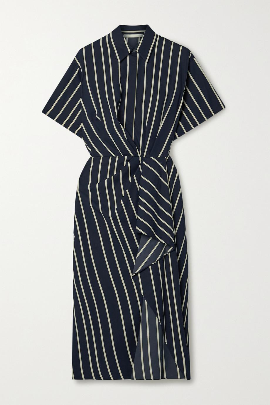 Jason Wu Collection Robe en serge rayée à drapé