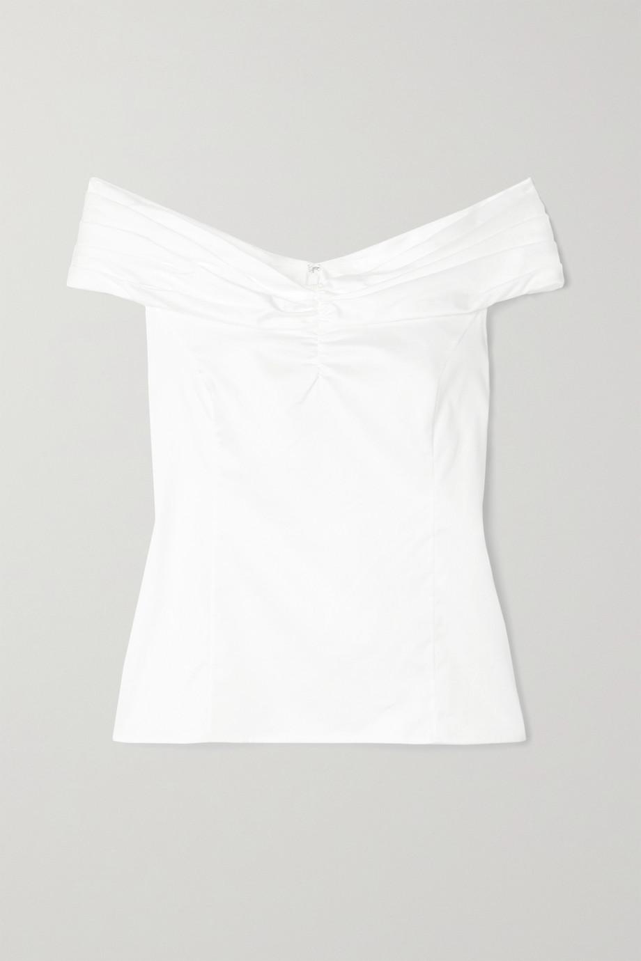 Jason Wu Collection 露肩褶饰纯棉府绸上衣