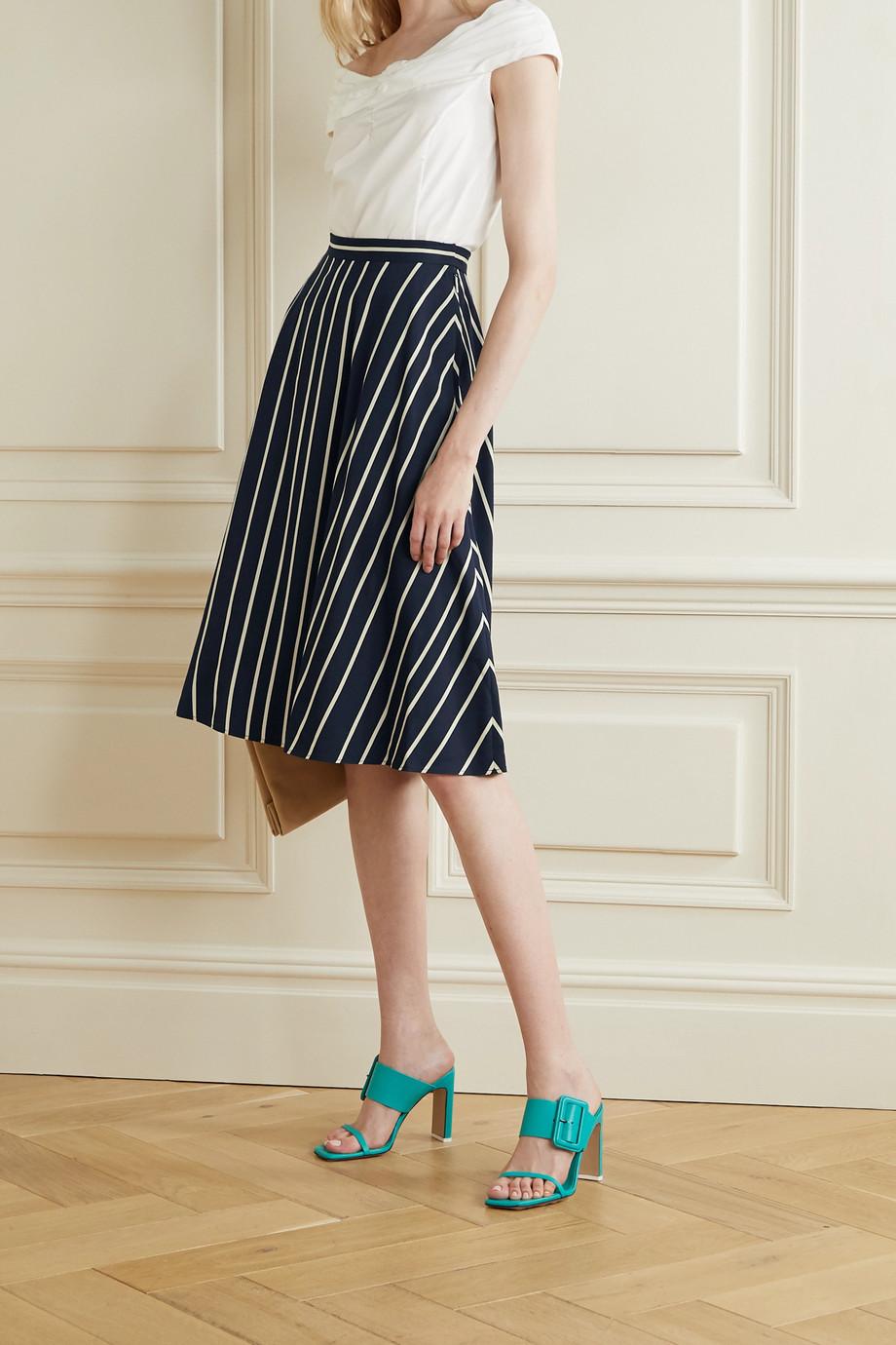 Jason Wu Collection Striped twill midi skirt