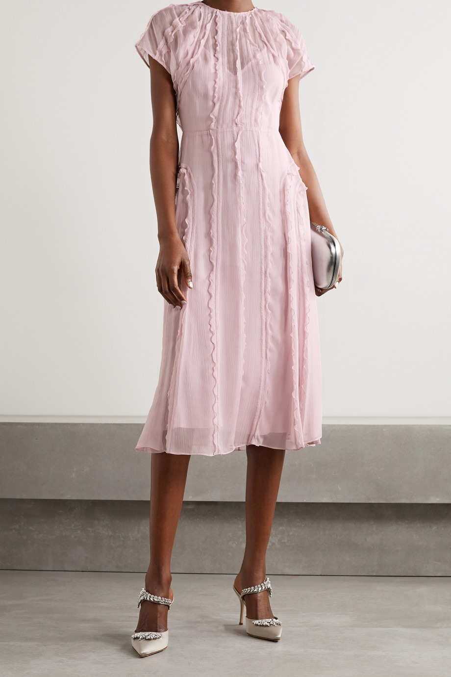 Jason Wu Collection Ruffled silk-crepon midi dress