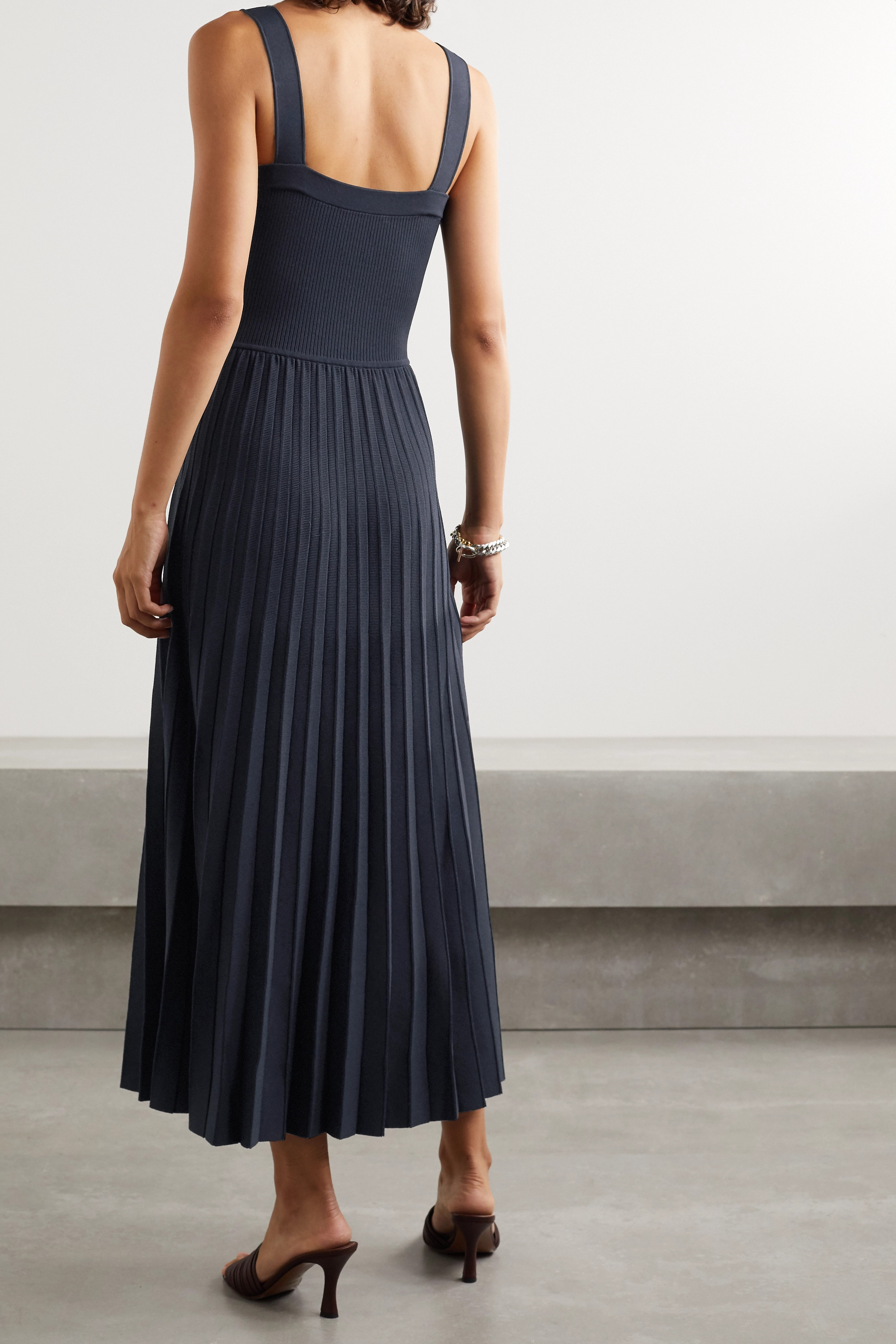 Jason Wu Collection Pleated knitted midi dress