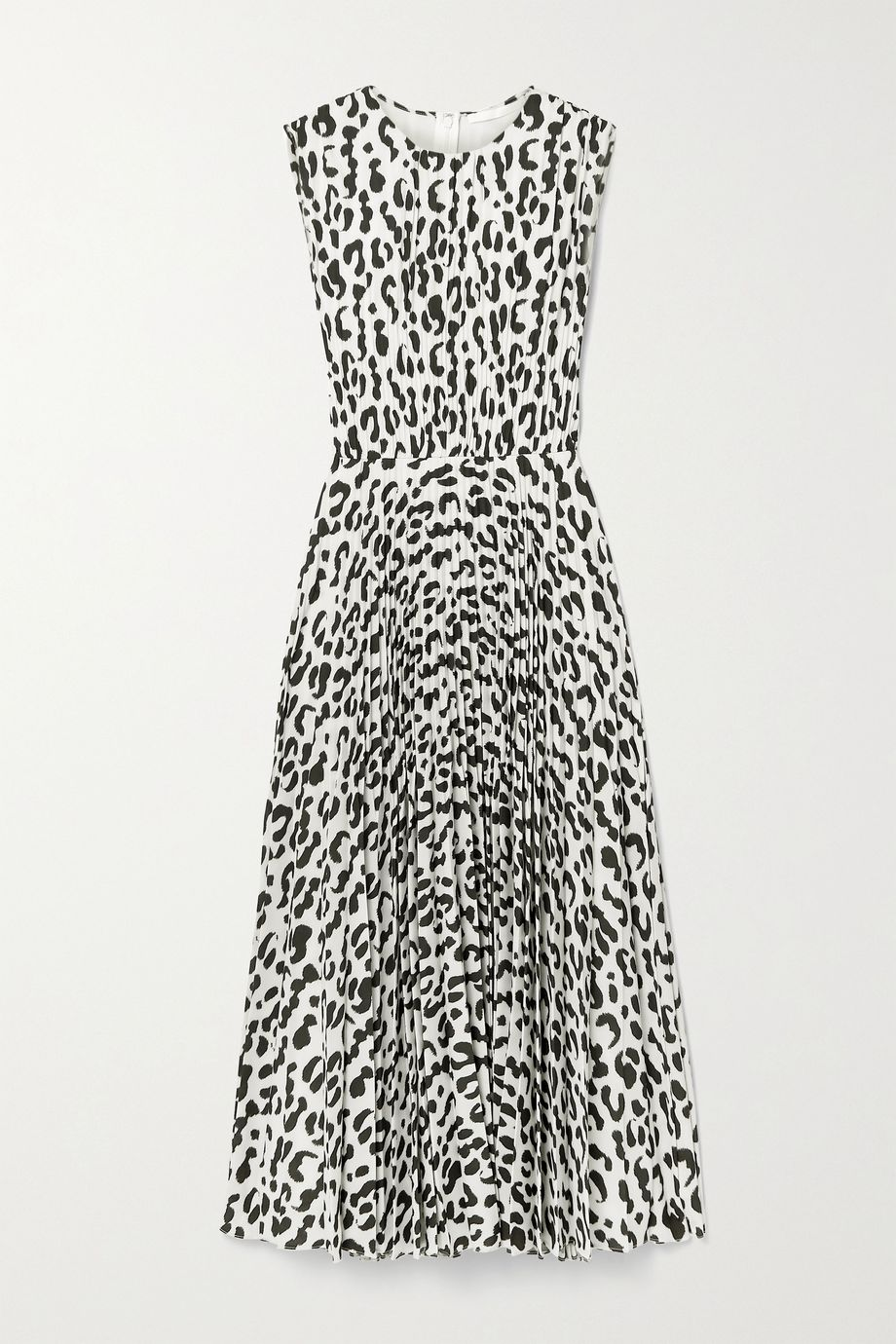 Jason Wu Collection Pleated leopard-print stretch-crepe midi dress