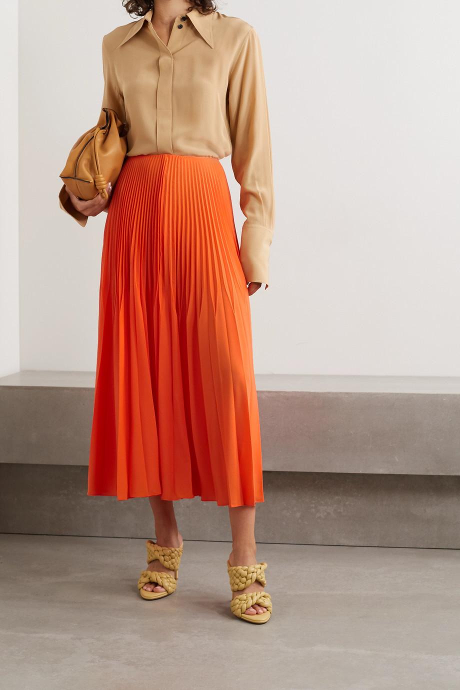 Jason Wu Collection Pleated crepe midi skirt