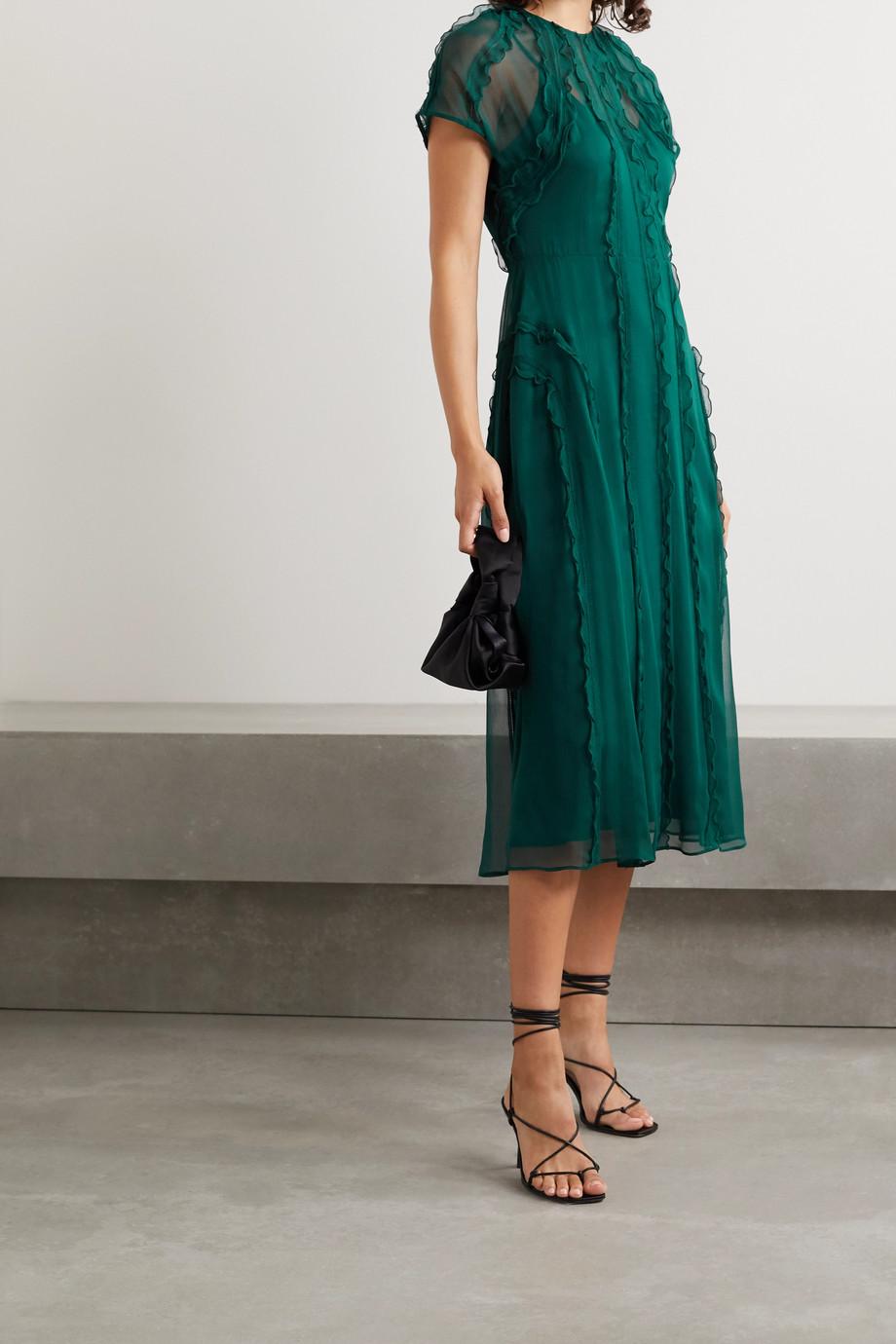 Jason Wu Collection Ruffled crinkled silk-chiffon midi dress