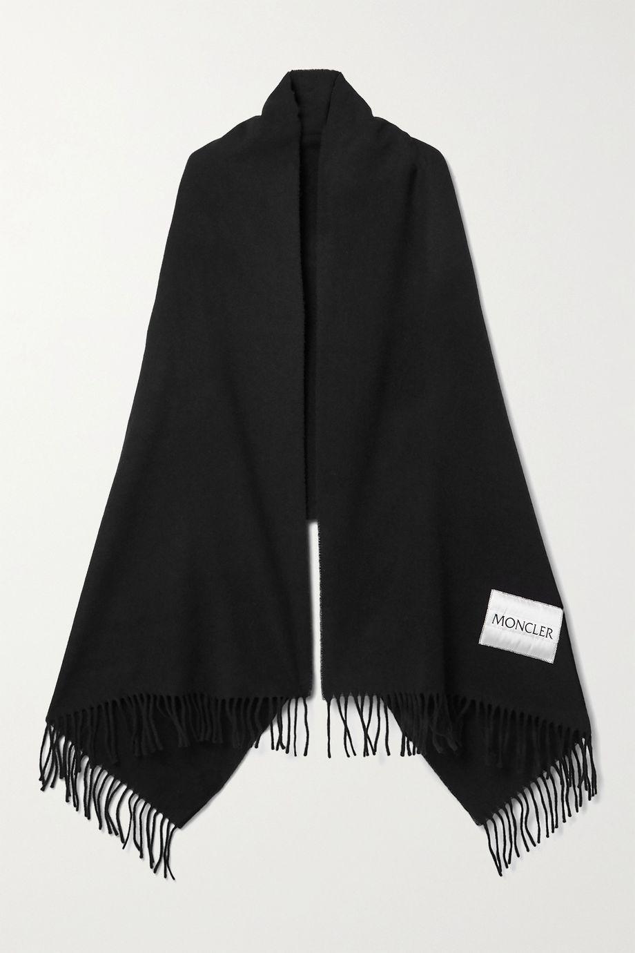 Moncler 流苏羊毛毡围巾