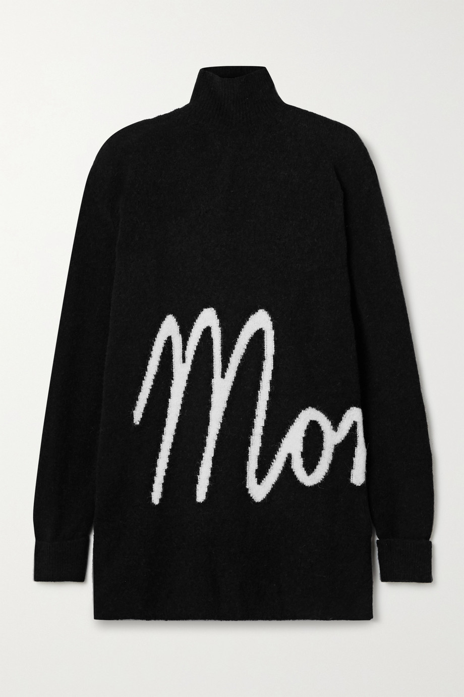 Moncler Oversized intarsia knitted turtleneck sweater
