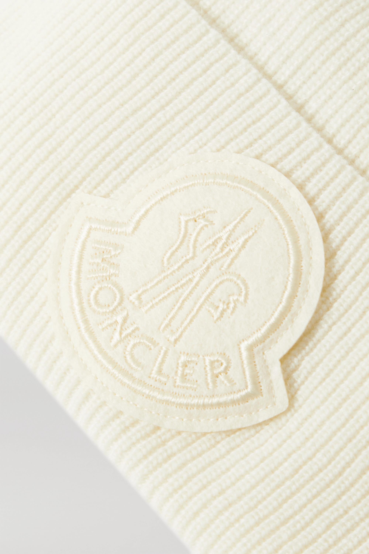 Moncler Bonnet en laine et cachemire mélangés à appliqué