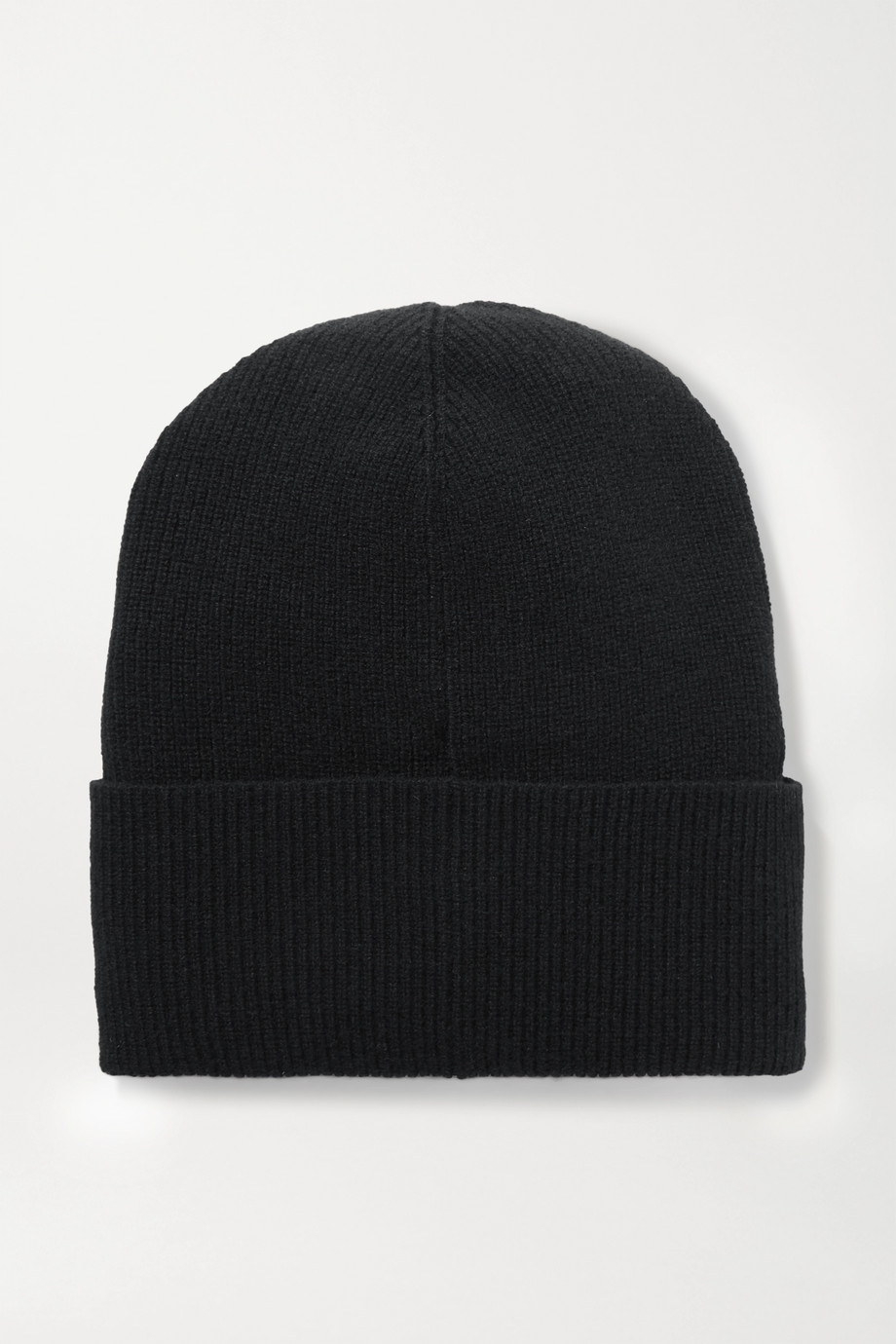Moncler 贴花羊毛羊绒混纺毛线帽