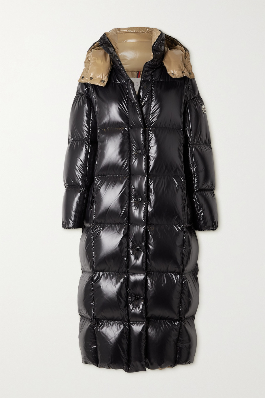 Moncler Parnaiba hooded quilted glossed-shell down coat