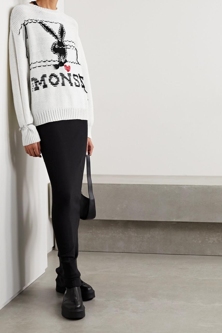 Monse + Playboy verzierter Pullover aus Wolle mit Intarsienmotiv