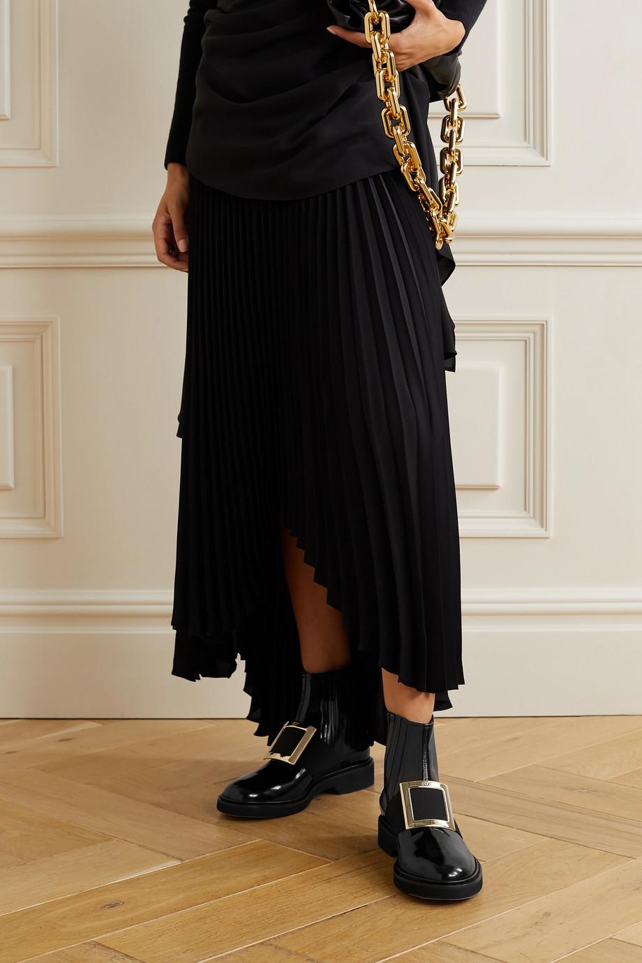 Roger Vivier Viv Ranger embellished patent-leather Chelsea boots